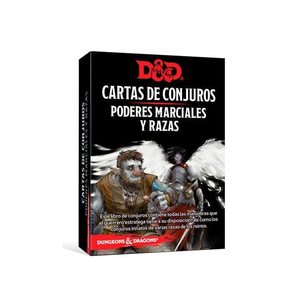 Dungeons & Dragons Cartas de conjuros: Poderes marciales y razas