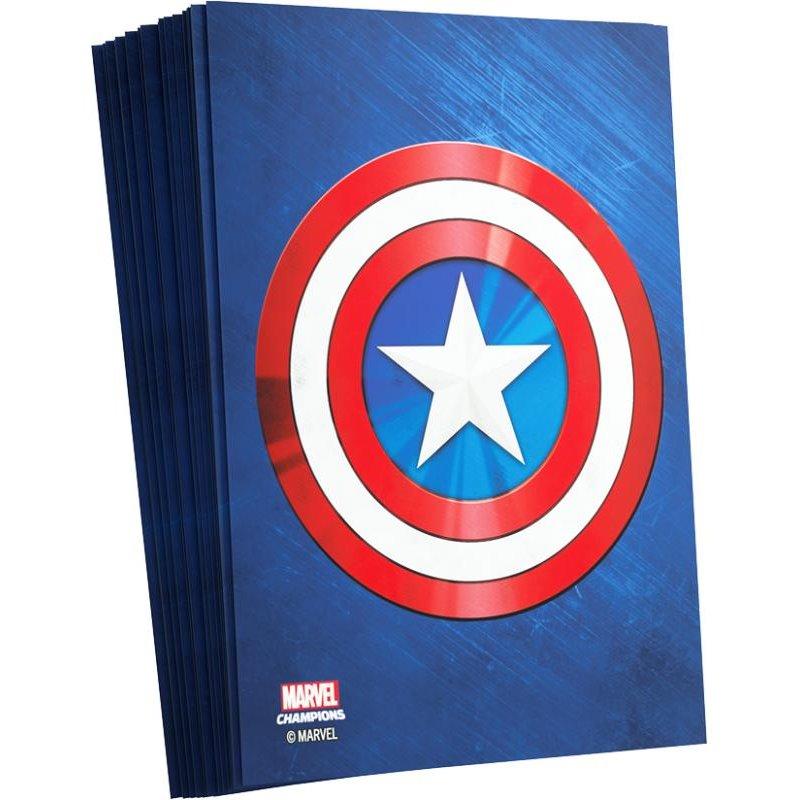 Fundas Capitán América Marvel Champions 66x91mm (50)